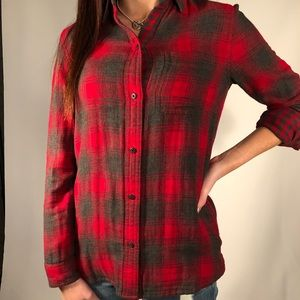 Madewell Flannel button blouse